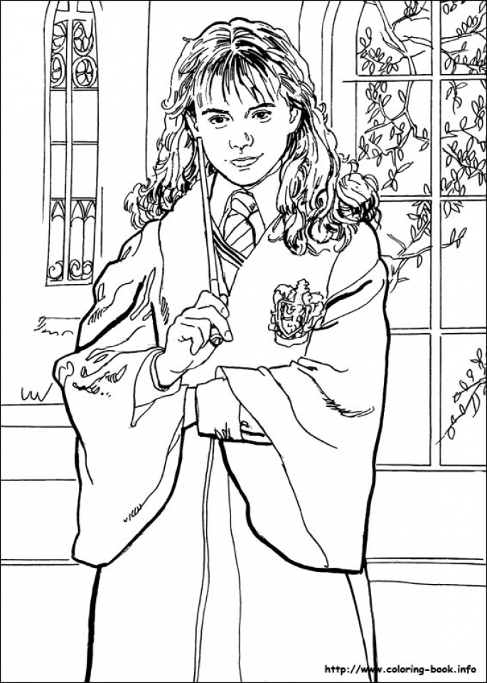 Harry Potter Coloring Pages Printable   48316