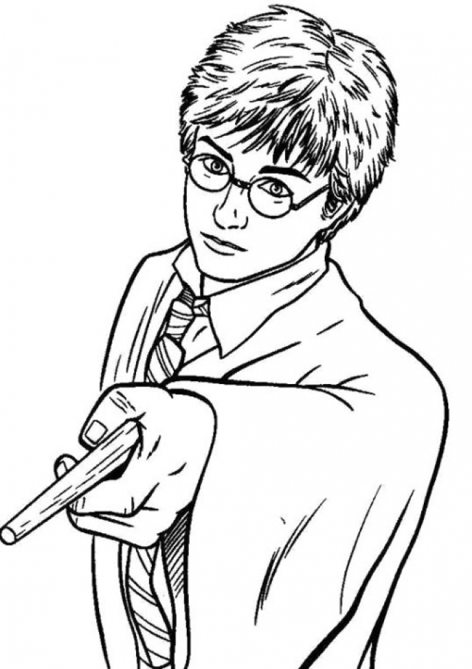 harry potter coloring pages printable free 33661 - Harry Potter Coloring Pages