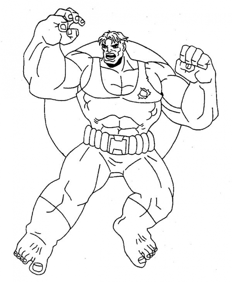 hulk coloring pages - photo #48