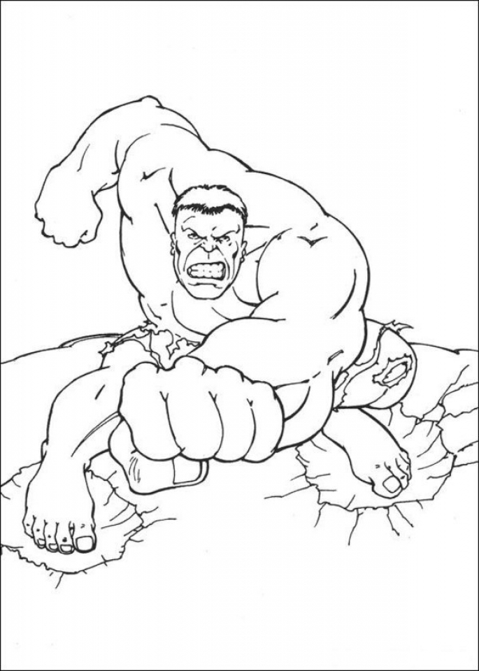 96 Hulk Coloring Pages Online