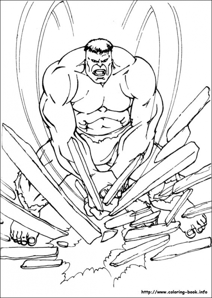 Hulk Coloring Pages Superheroes Printable   27509