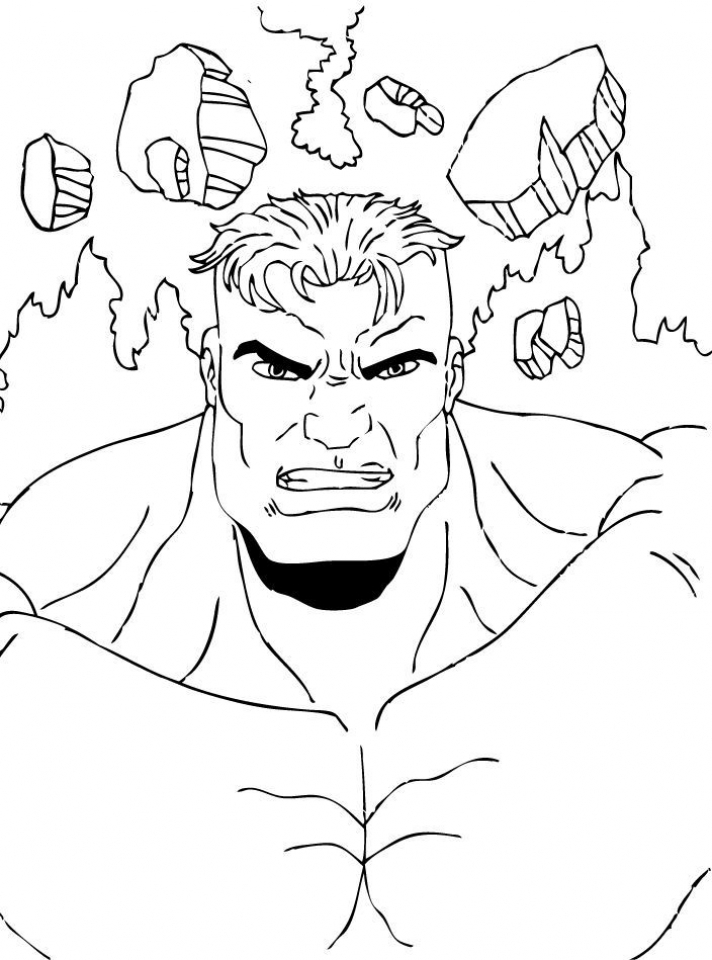 Hulk Coloring Pages to Print for Boys   41672