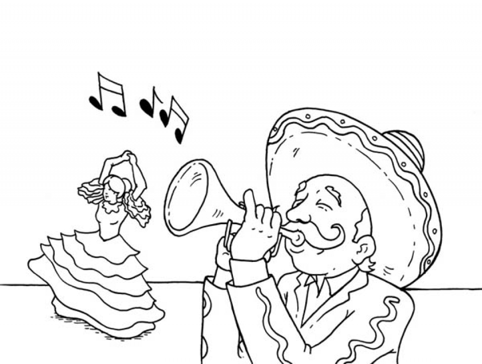 Get This Image of Cinco de Mayo Coloring Pages to Print for Kids 05021 !