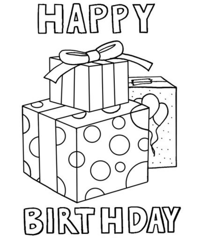 Get This Kids Coloring Pages Happy Birthday Printable 38195