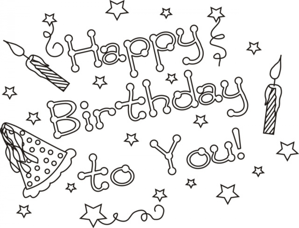 Get This Kids Coloring Pages Happy Birthday Printable 50185