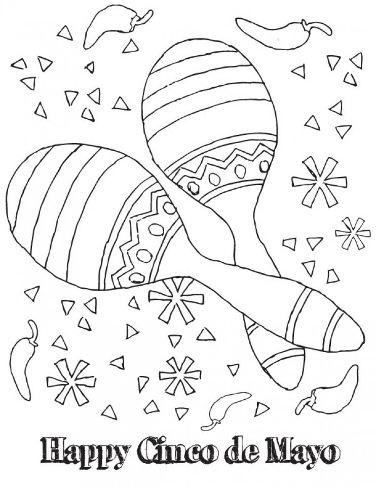 Kids Printable Cinco De Mayo Coloring Pages 13195