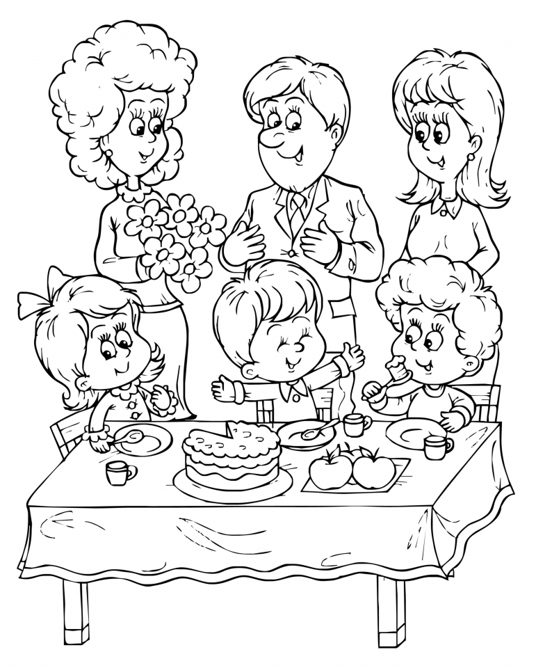 birthday cake worksheet. 300 x 300. free printable happy birthday ... - Printable Birthday Coloring Pages