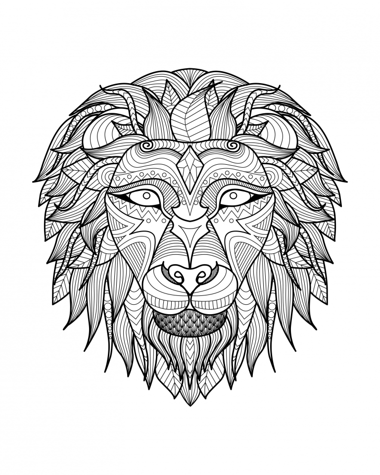 Get This Lion Coloring Pages For Adults Printable 31662
