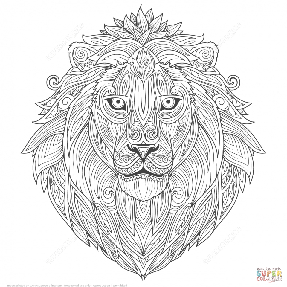 Get This Lion Coloring Pages For Adults To Print 85864