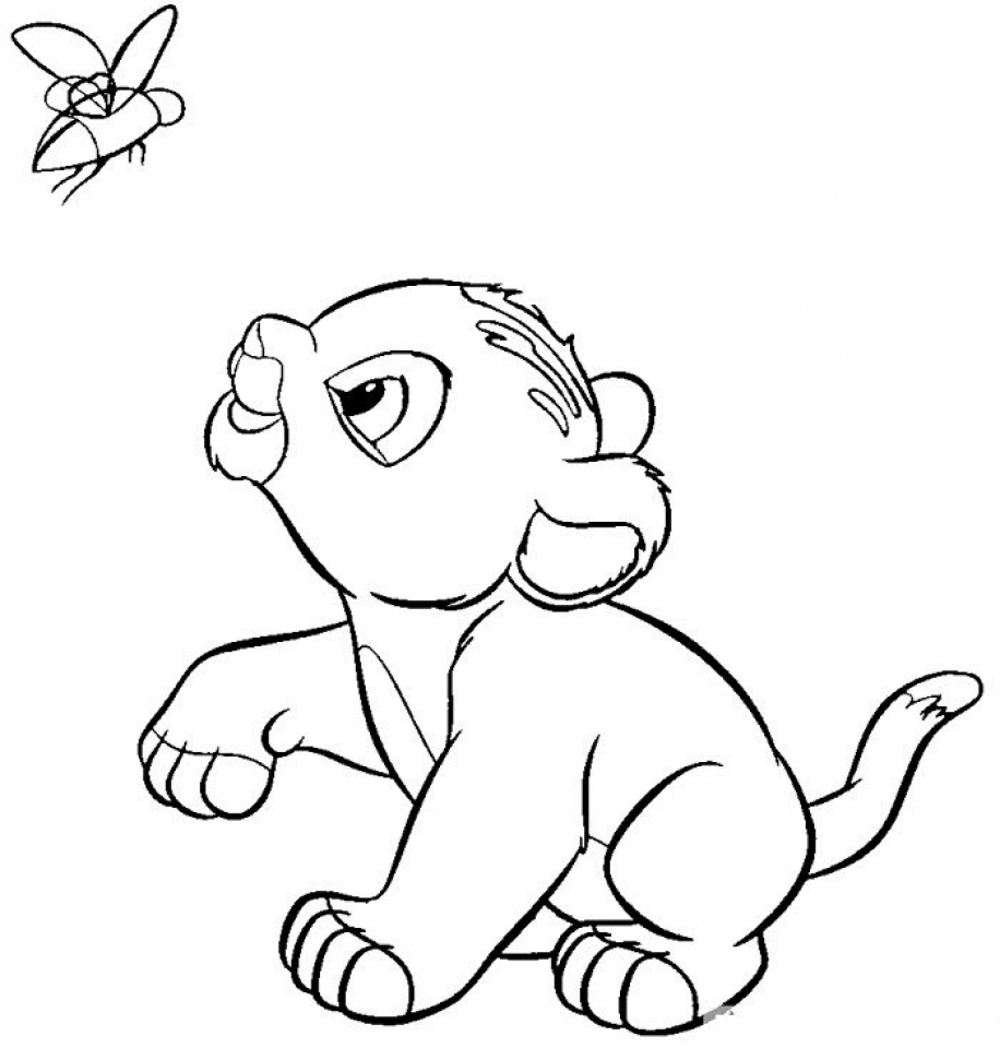 Lion Cub Coloring Pages Free