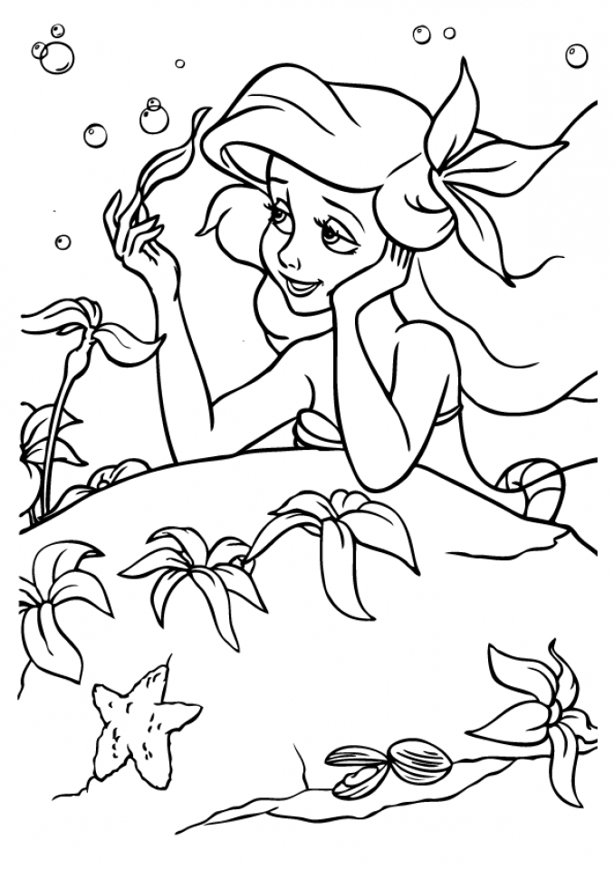 disney mermaid coloring pages - get this little mermaid coloring pages classic disney