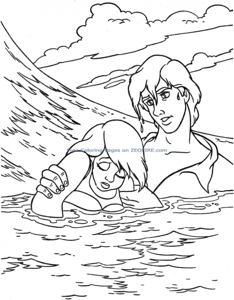 Little Mermaid Coloring Pages Princess Printable For Girls 50461
