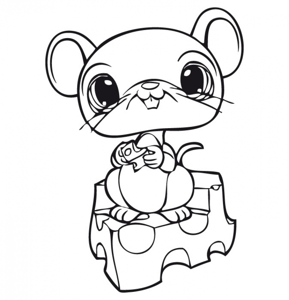 littlest pet shop cute animals coloring pages for kids 62710 - Cute Animal Coloring Pages