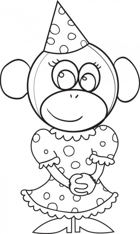 Monkey Coloring Pages Free to Print   80841