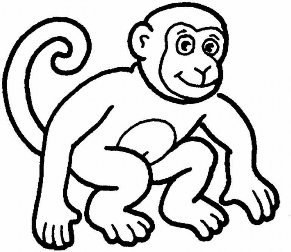 get this monkey coloring pages printable 70317