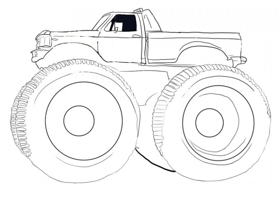 Get This Monster Truck Coloring Pages Free Printable 40785 !