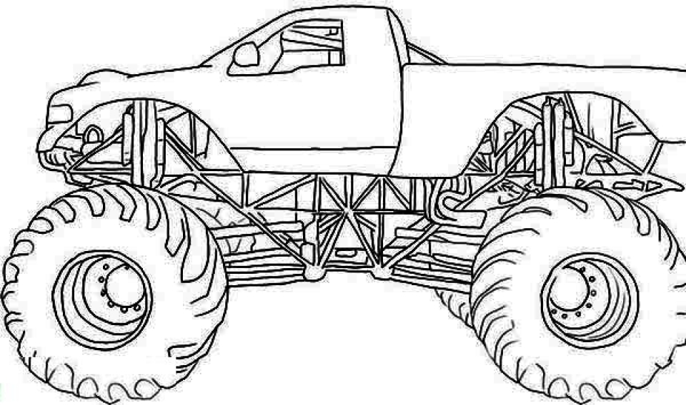 Get This Monster Truck Coloring Pages Free Printable 64838