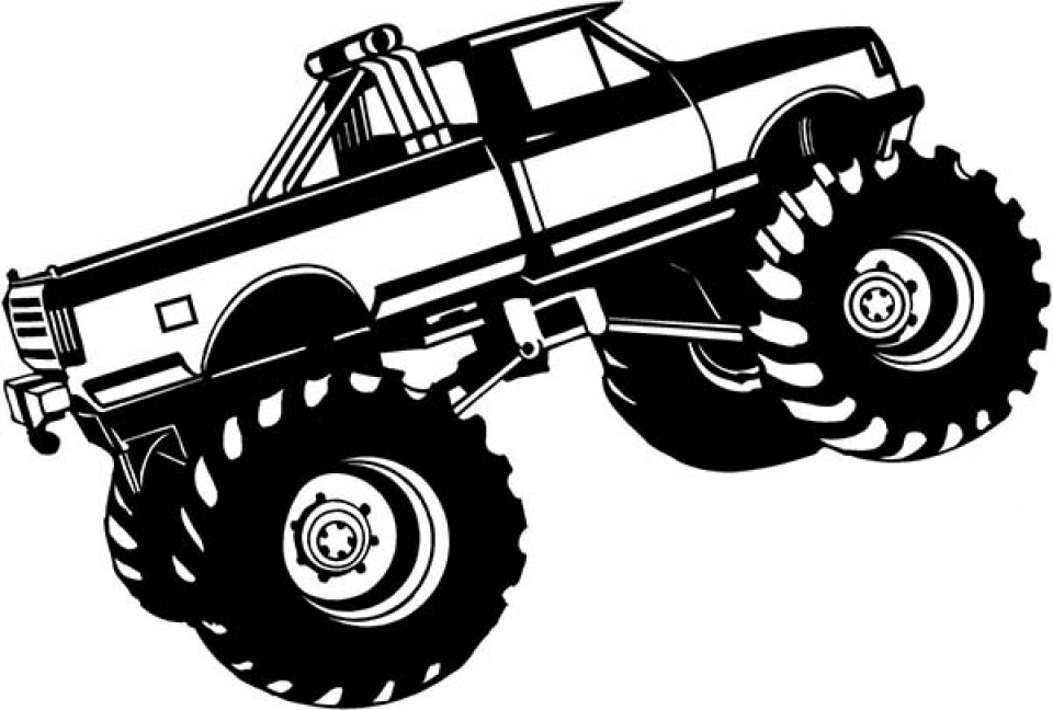 monster truck coloring pages free printable 70452 - Monster Truck Coloring Page