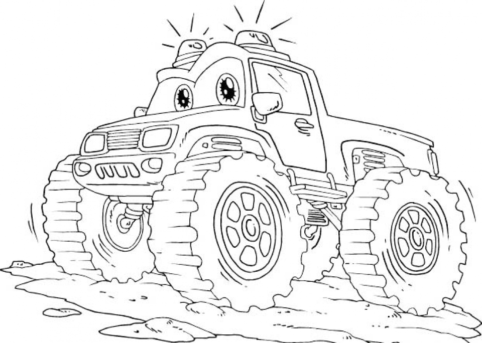 Get This Monster Truck Coloring Pages Free Printable 85187