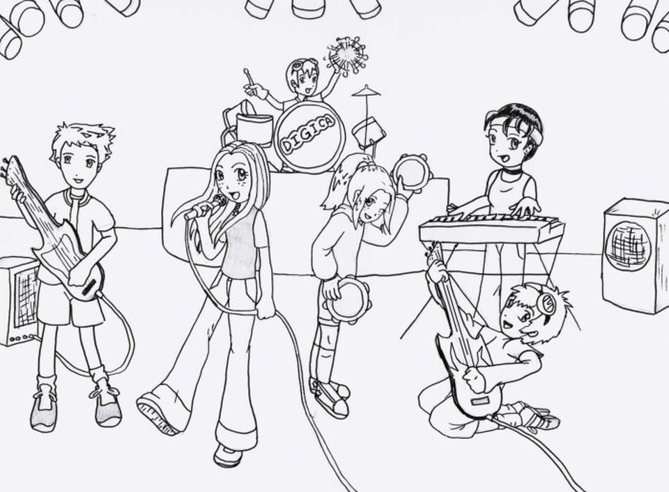 Motown Musicians Coloring Page Coloring Pages