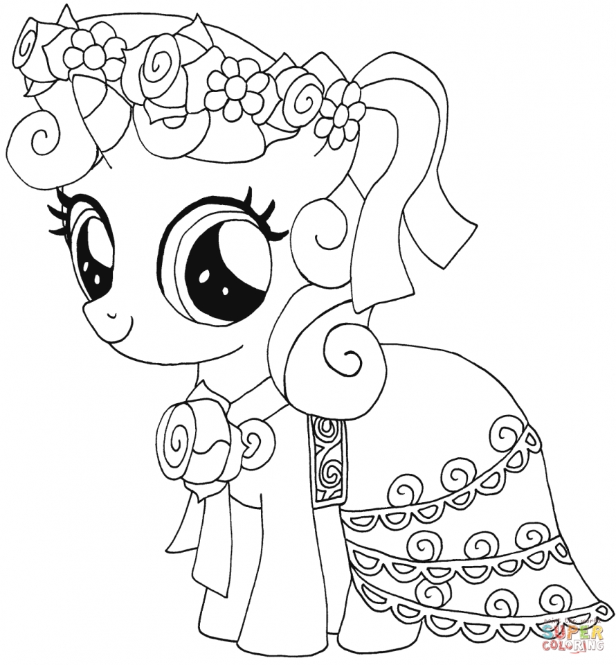 Vintage my little pony coloring pages - My Little Pony Coloring Pages To Print For Girls 74831