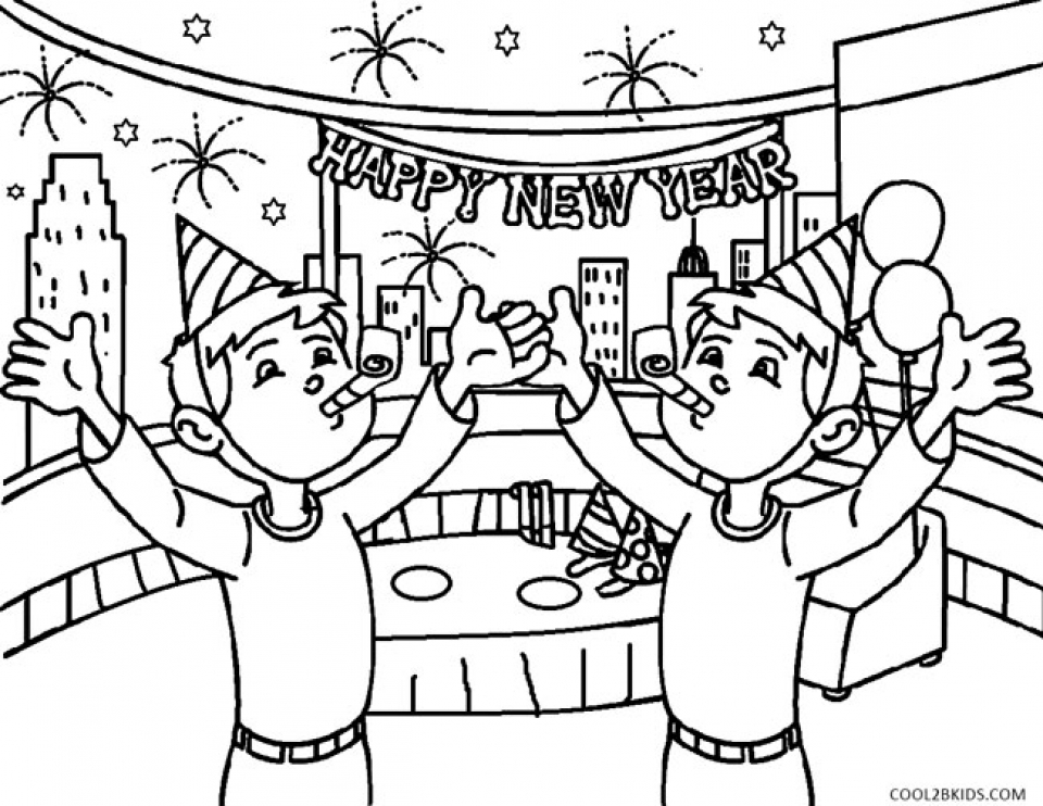Get This New Years Coloring Pages Free to Print for Kids ...