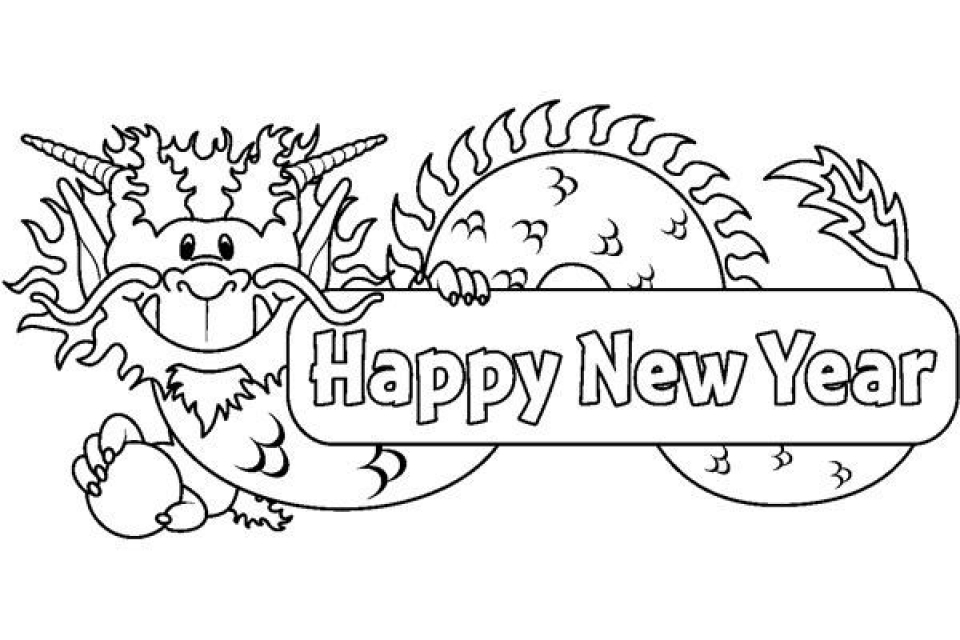 Get This New Years Coloring Pages Free to Print for Kids 32073 !