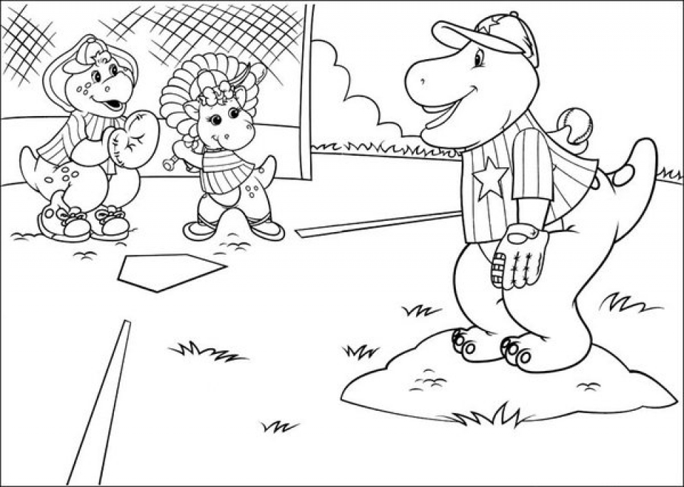 Online Coloring Pages Of Barney And Friends For Kids 00167