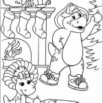 Online Coloring Pages Of Barney And Friends For Kids 57901