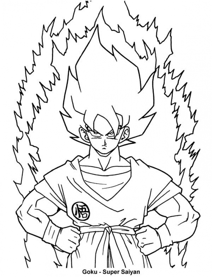 online dragon ball z coloring pages 42198 - Dragon Ball Goku Coloring Pages
