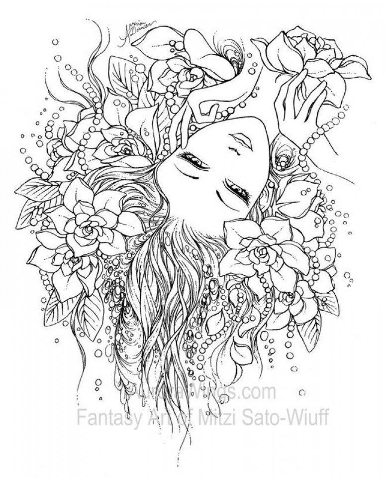 free online fairy coloring pages - photo#24