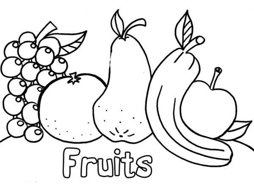 Get this online fruit coloring pages 61145 for Coloring pages fruits and vegetables