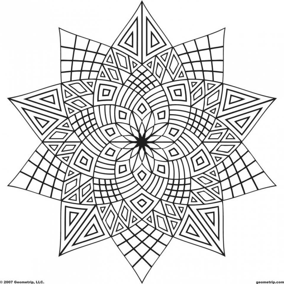 Geometric Coloring Pages Glamorous Get This Online Geometric Coloring Pages 83385 Inspiration