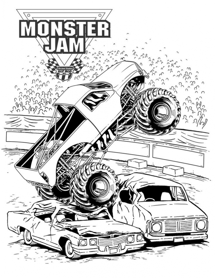 20 Free Printable Monster Truck Coloring Pages