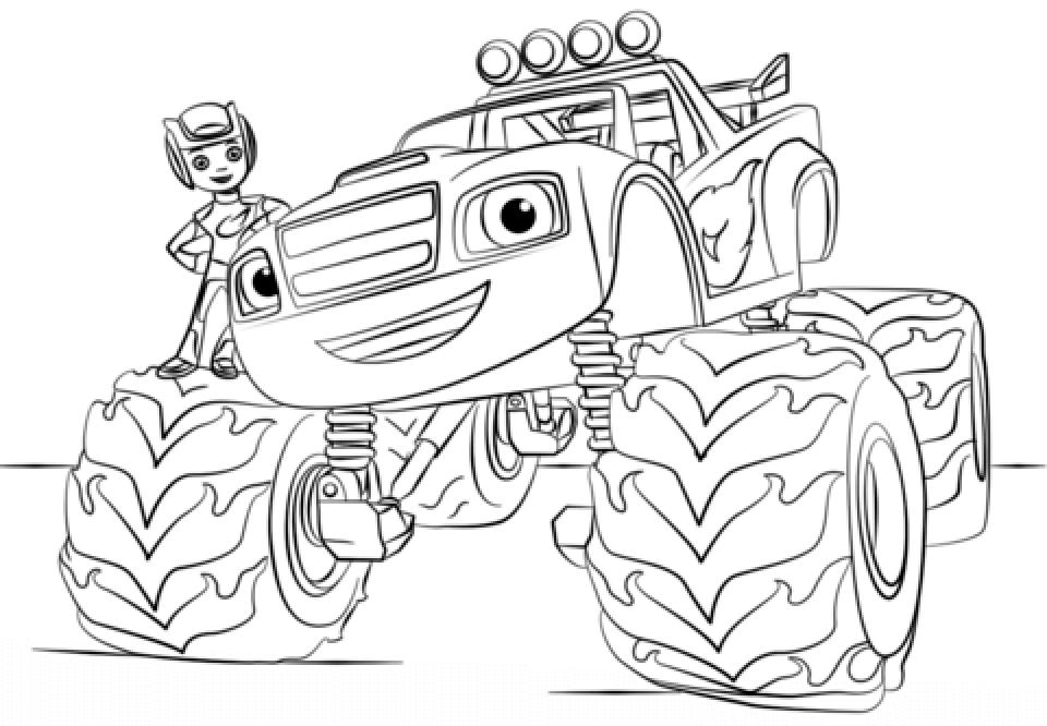 Online Monster Truck Coloring Pages 70345