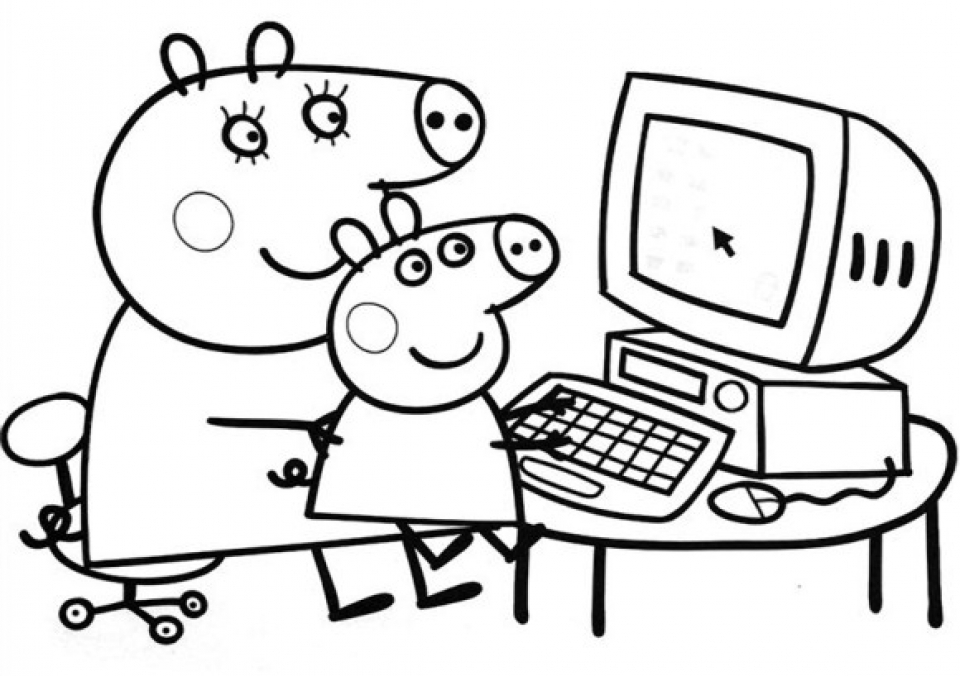 Online Peppa Pig Coloring Pages 83386