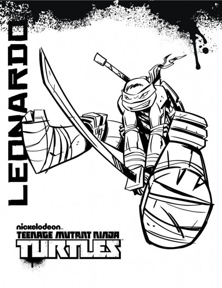 online teenage mutant ninja turtles coloring pages 10237
