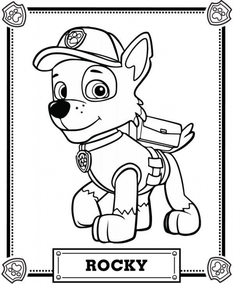 Get This Paw Patrol Coloring Pages