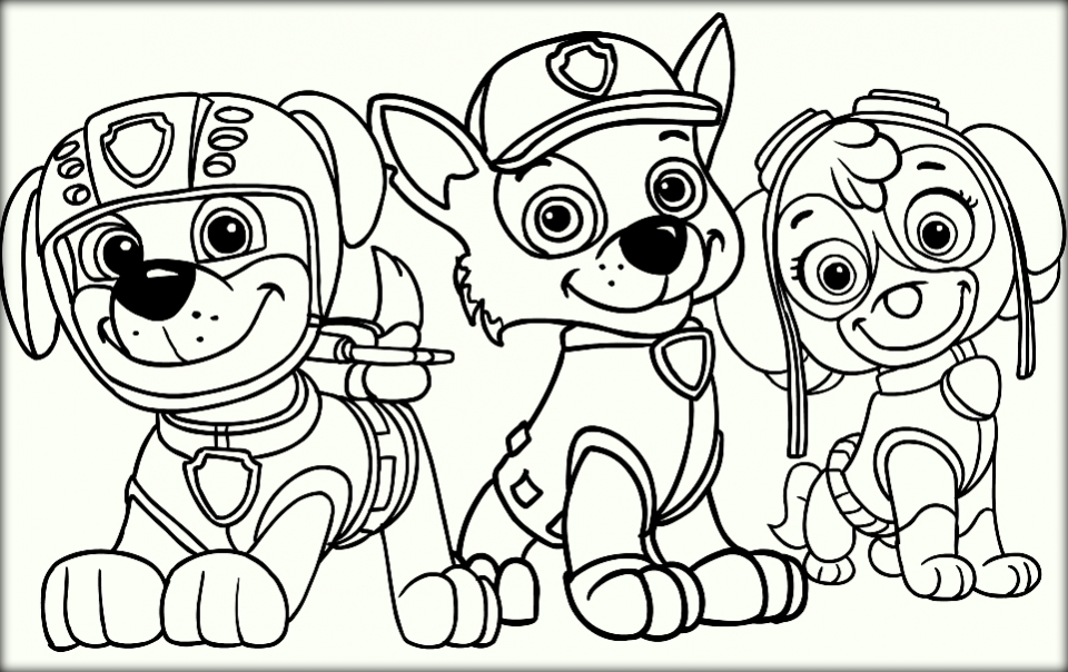 Paw Patrol Halloween Printable Coloring Pages