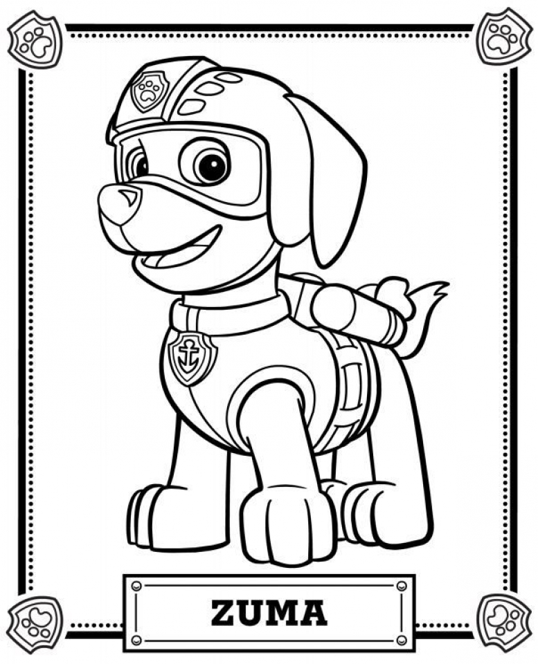 Get This Paw Patrol Coloring Pages Free Printable 04792