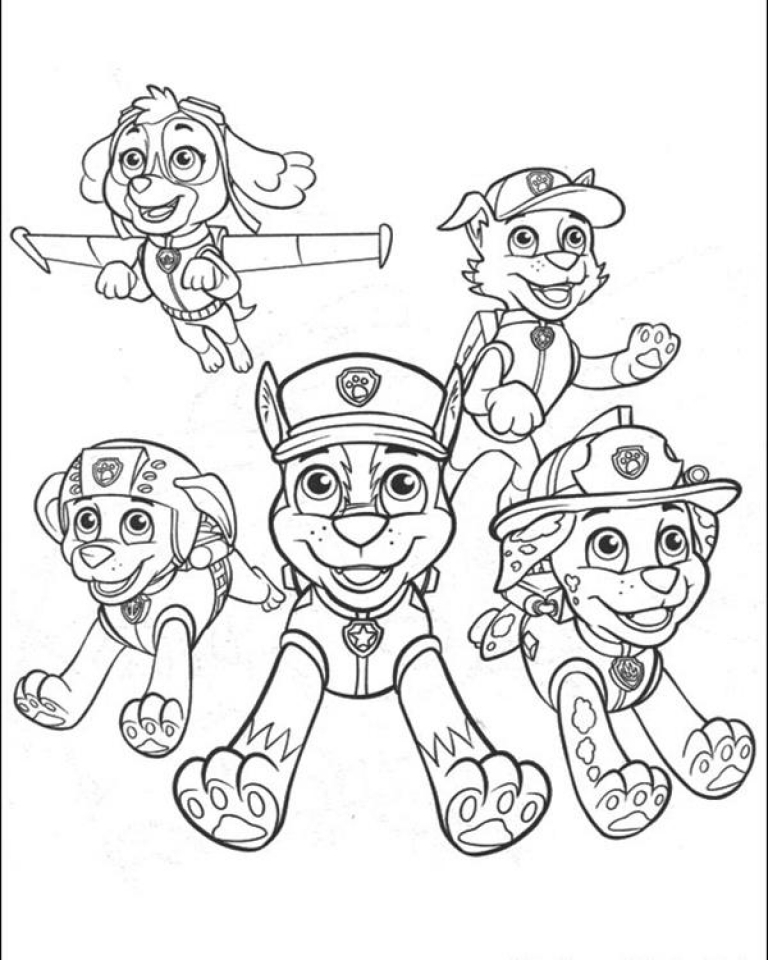 paw patrol coloring pages free printable 17359 - Free Printable Paw Patrol Coloring Pages