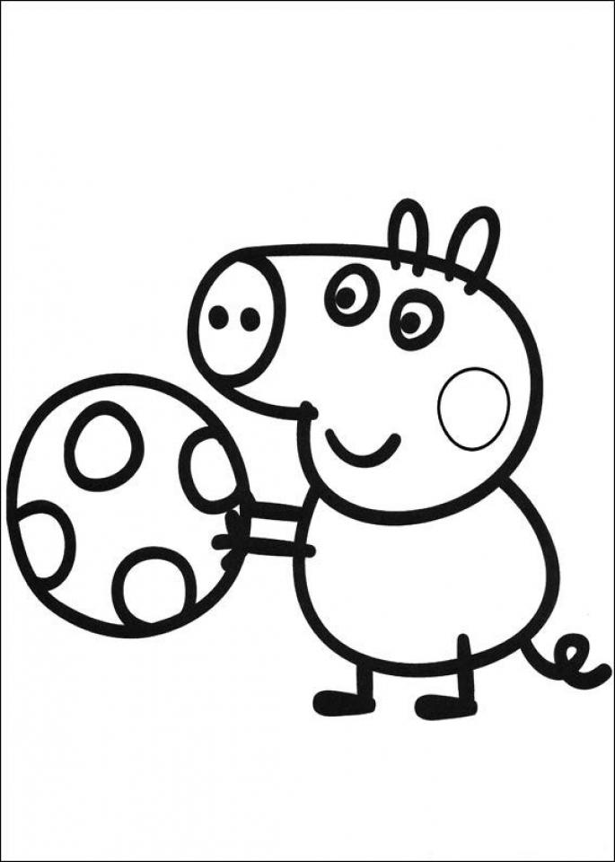 peppa pig coloring pages free printable 30787 - Peppa Pig Coloring Page