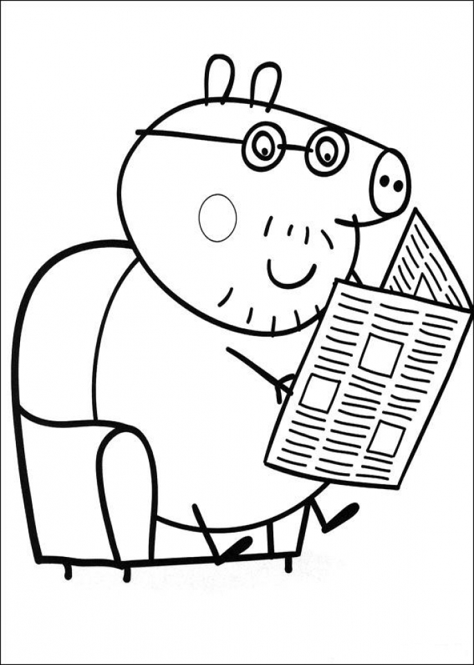 peppa pig coloring pages free printable 35748 - Peppa Pig Coloring Pages Print
