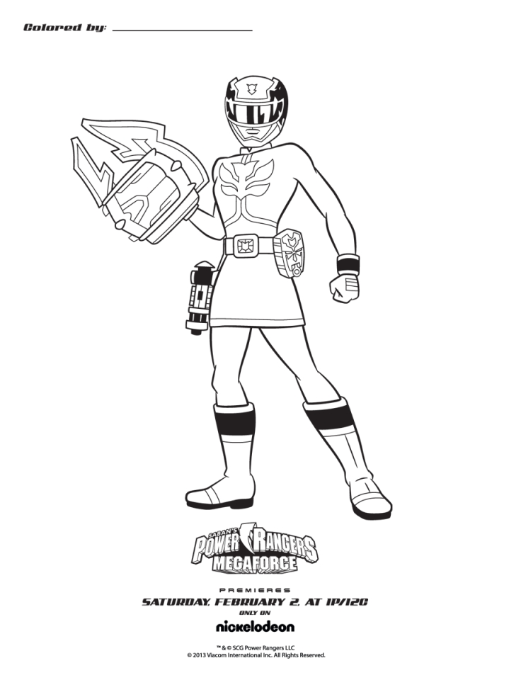 Get This Power Rangers Megaforce Coloring Pages Free To Print 50531