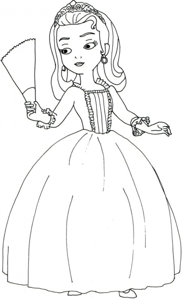 Get This Princess Amber from Sofia the First Coloring Pages 17289 !