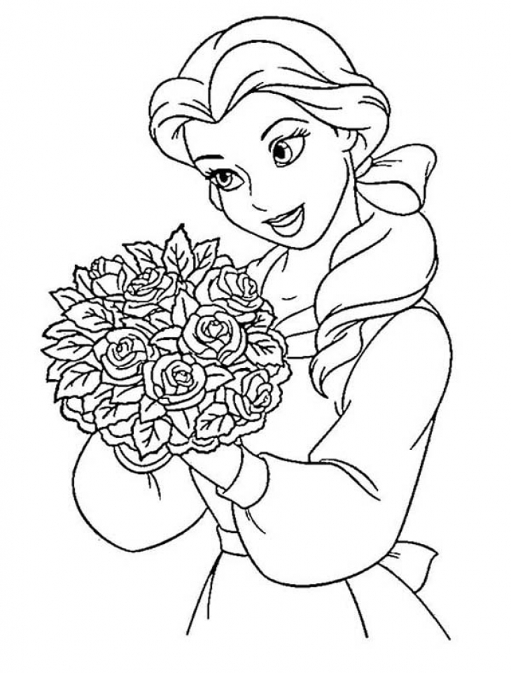 princess belle coloring pages to print 36185 - Princess Belle Coloring Pages