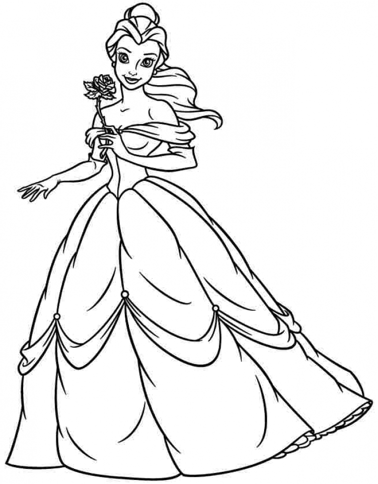 Get This Princess Belle Coloring