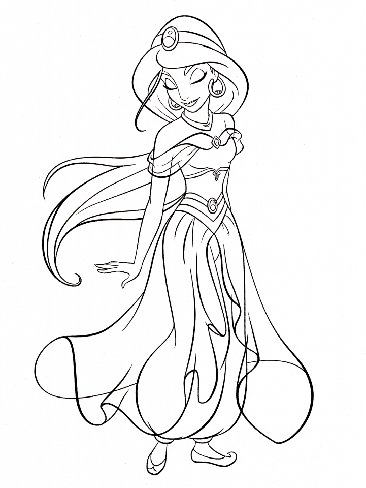 Get This Princess Jasmine Printable Coloring Pages for Girls 73801 !