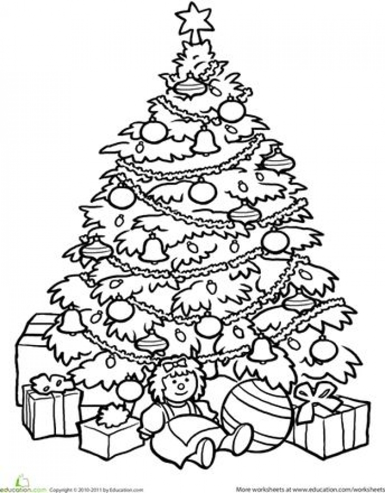 Get This Printable Christmas Tree Coloring Pages 1288