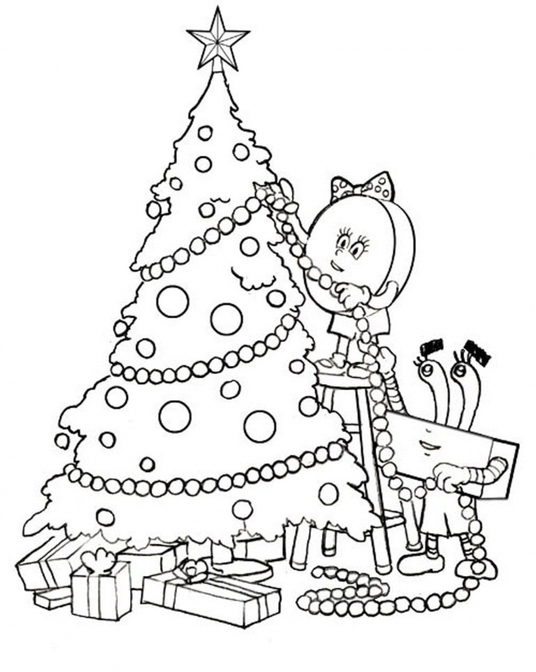 Get This Printable Christmas Tree Coloring Pages for Children 04971